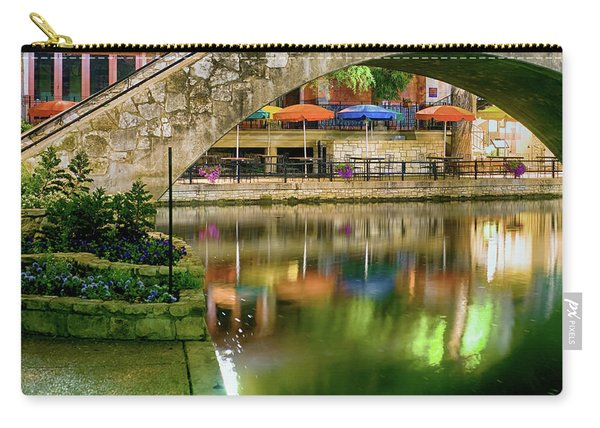 San Antonio River Walk Green Carry-all Pouch