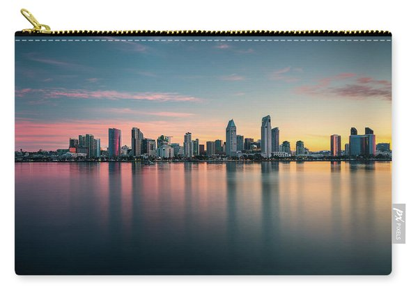 San Diego Skyline At Dawn Carry-all Pouch