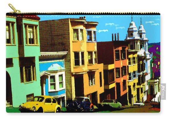 San Francisco Pop Art Blue Green Red Yellow Carry-all Pouch