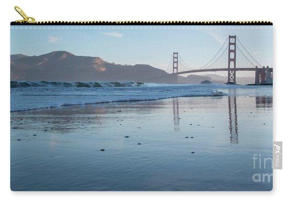 San Francisco Golden Gate Bridge Reflected On Baker's Beach Wet  Carry-all Pouch
