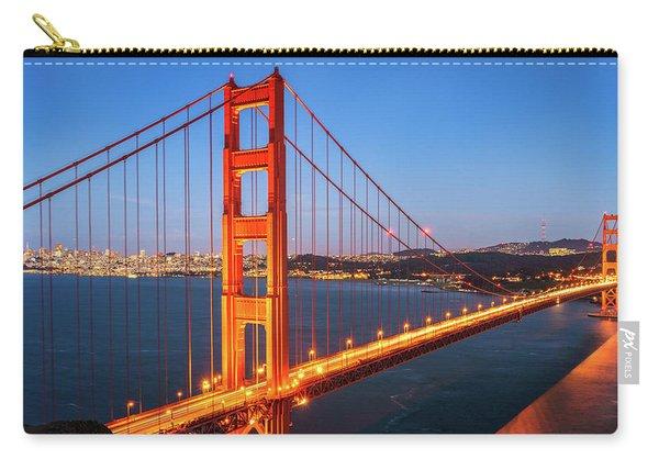 San Francisco Through The Golden Gate Bridge At Dusk Carry-all Pouch
