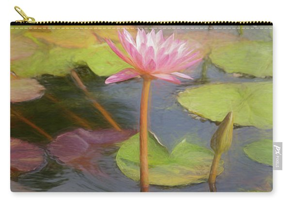 Carry-all Pouch featuring the photograph San Juan Capistrano Water Lilies by Michael Hope