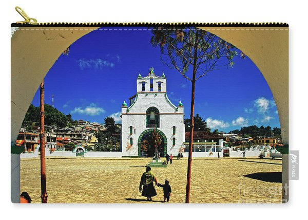 Carry-all Pouch featuring the photograph San Juan Chamula Church In Chiapas, Mexico by Sam Antonio Photography