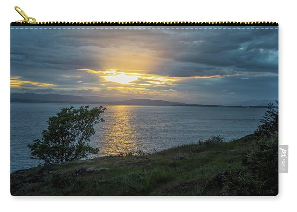 Carry-all Pouch featuring the photograph San Juan Island Sunset by Tom Singleton