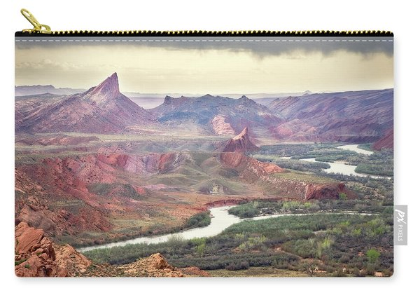 San Juan River And Mule's Ear Carry-all Pouch