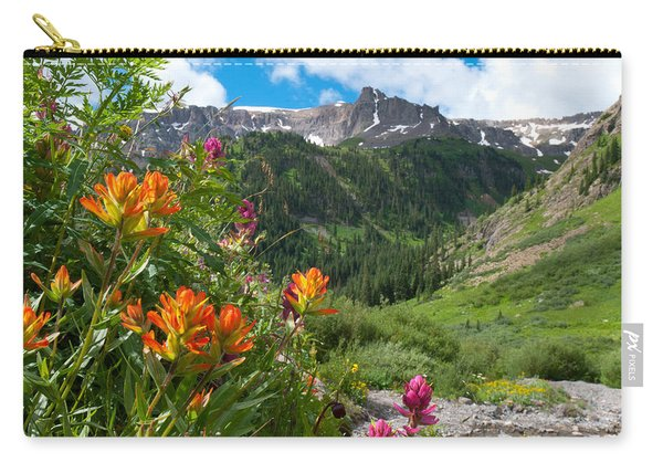 San Juans Indian Paintbrush Landscape Carry-all Pouch