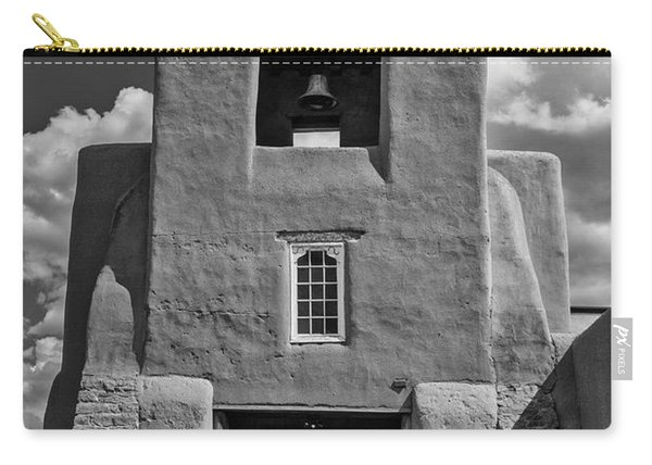 San Miguel Mission Black And White Carry-all Pouch