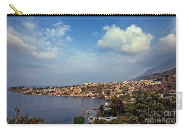 Carry-all Pouch featuring the photograph San Pedro La Laguna, Lake Atitlan, Guatemala by Sam Antonio Photography