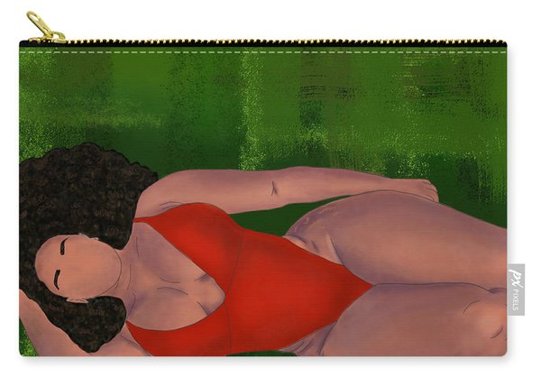 Carry-all Pouch featuring the digital art Alternative Curves by Bria Elyce