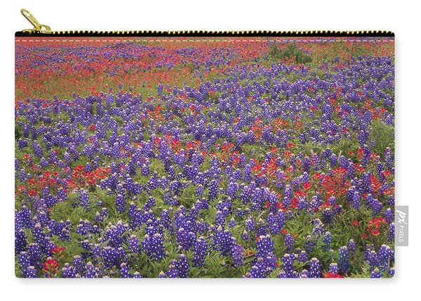Sand Bluebonnet And Paintbrush Carry-all Pouch