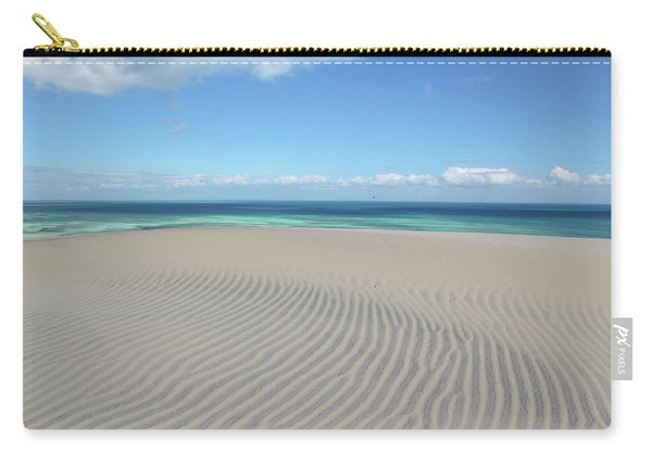 Sand Dune Ripples And The Ocean Beyond Carry-all Pouch
