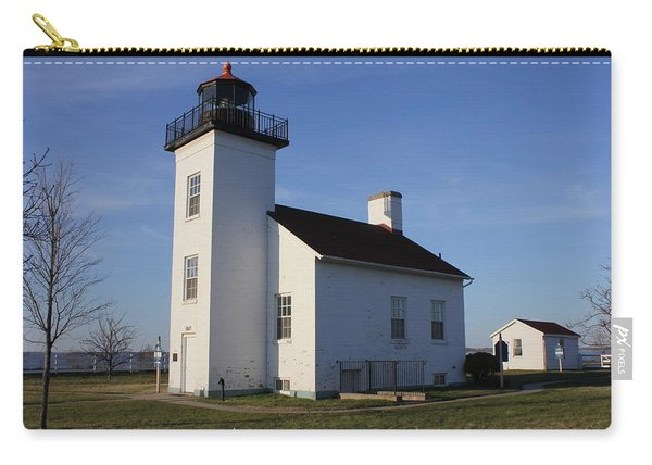 Sand Point Lighthouse In Escanaba Carry-all Pouch