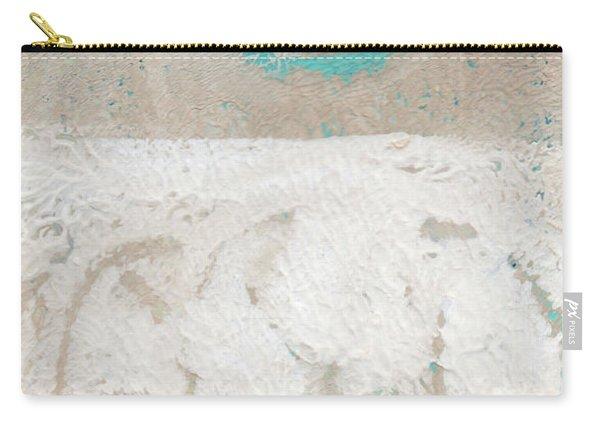 Sandcastles- Abstract Painting Carry-all Pouch