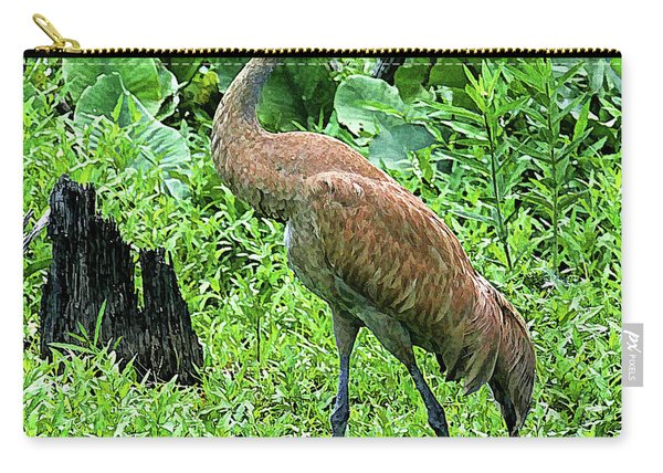 Sandhill Crane At Sandy Ridge Reservation Carry-all Pouch