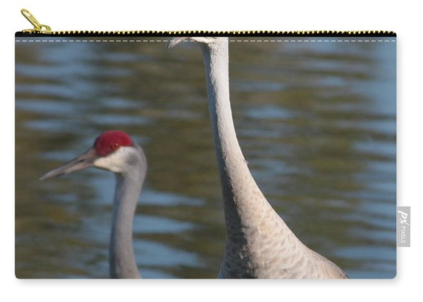 Sandhill Crane Couple By The Pond Carry-all Pouch