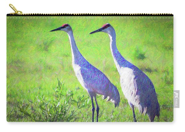 Sandhill Crane Couple Carry-all Pouch