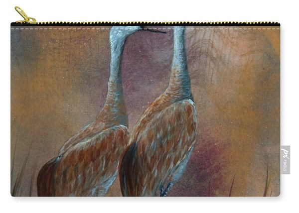 Sandhill Crane Duet Carry-all Pouch