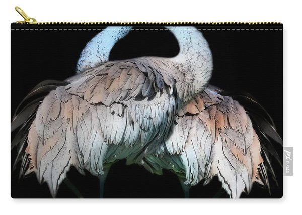 Sandhill Crane Mirror Image Carry-all Pouch