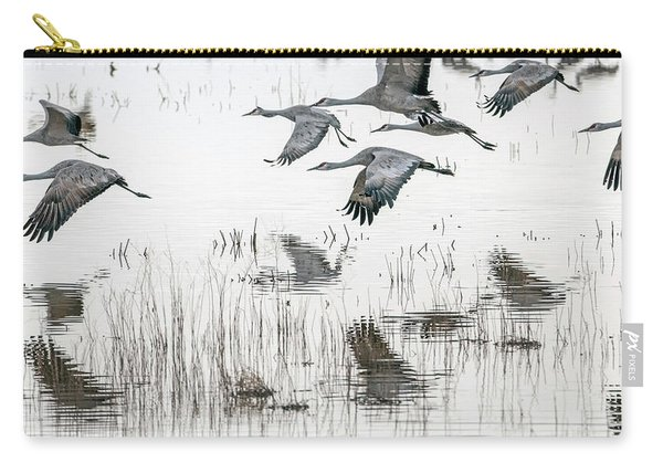 Sandhill Cranes 5968-022015-1cr Carry-all Pouch