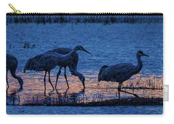 Sandhill Cranes At Twilight Carry-all Pouch