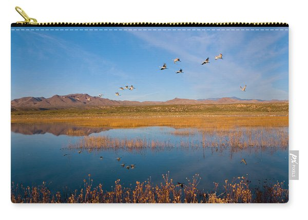 Sandhill Cranes In Flight Carry-all Pouch
