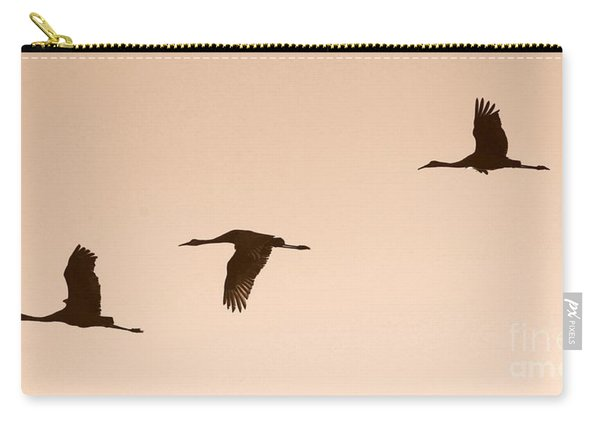 Sandhills In Flight In Sepia Carry-all Pouch