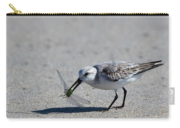 Sandpiper With Dragonfly Carry-all Pouch
