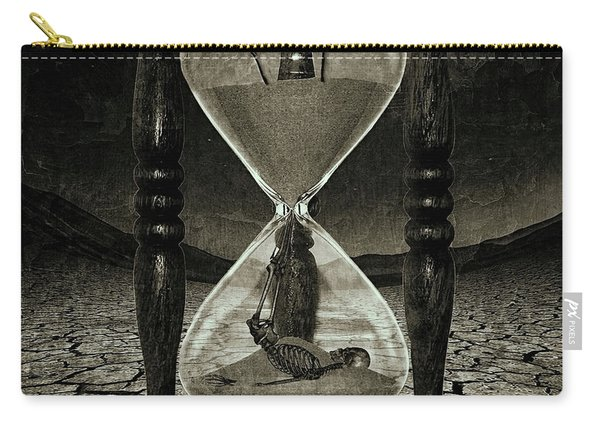 Sands Of Time ... Memento Mori - Monochrome Carry-all Pouch