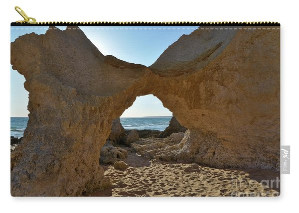Sandstone Arch In Gale Beach. Algarve Carry-all Pouch