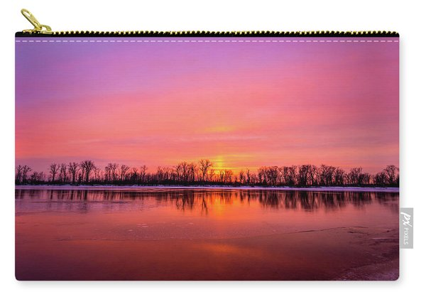 Sandy Chute Sunset Carry-all Pouch