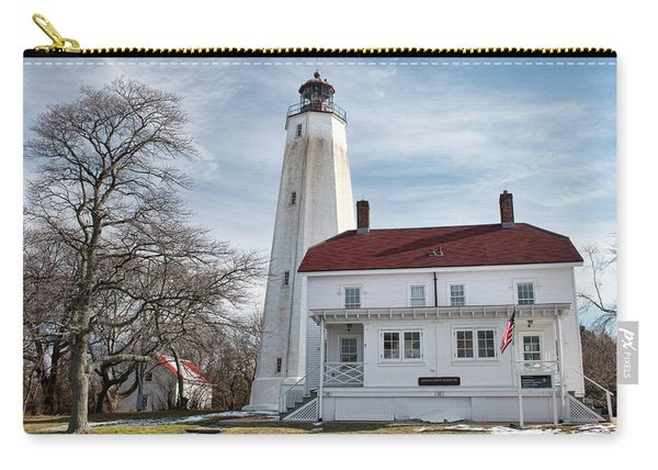 Sandy Hook Lighthouse - Winter Carry-all Pouch