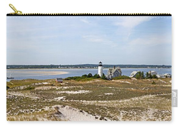 Sandy Neck Lighthouse With Fishing Boat Carry-all Pouch