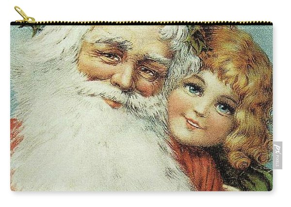 Santa And His Little Admirer Carry-all Pouch