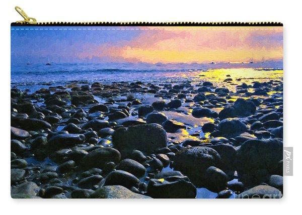 Santa Barbara Beach Sunset California Carry-all Pouch