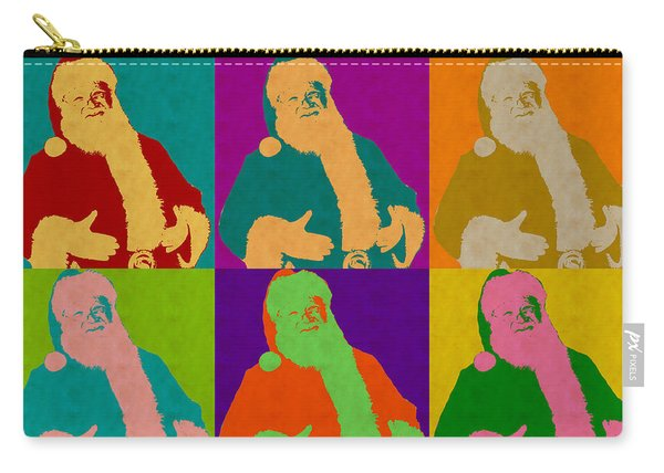 Santa Claus Andy Warhol Style Carry-all Pouch