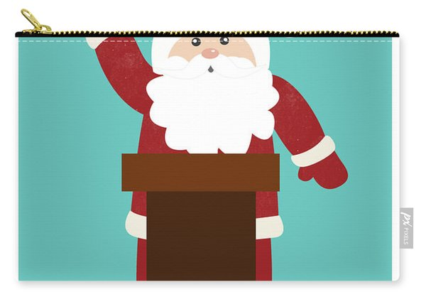 Santa Clinches The Nomination- Art By Linda Woods Carry-all Pouch