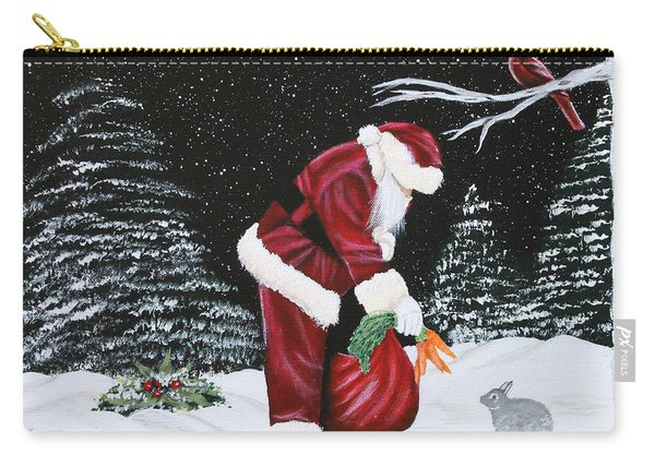 Santa Loves All Creatures Carry-all Pouch