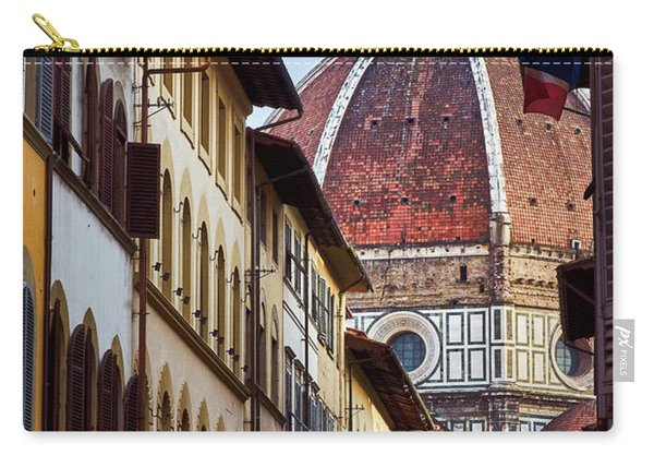 Santa Maria Del Fiore From Via Dei Servi Street In Florence, Italy Carry-all Pouch