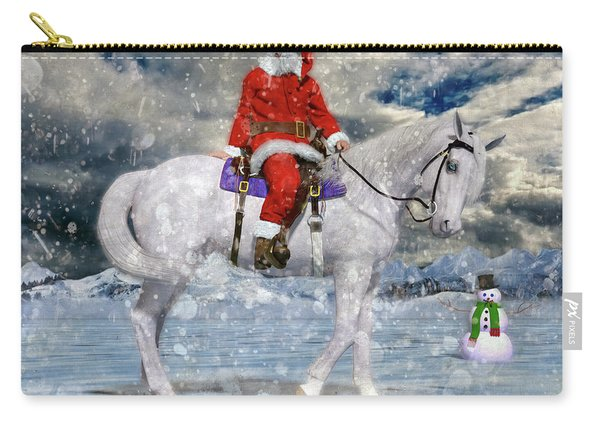 Santa Rides To Town Carry-all Pouch