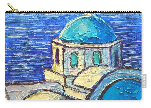 Santorini  Blue Carry-all Pouch