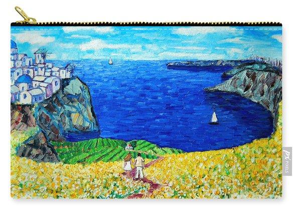 Santorini Honeymoon Carry-all Pouch