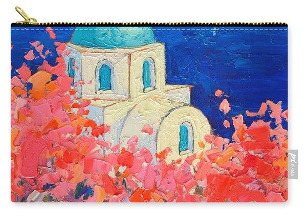 Santorini Impression - Full Bloom In Santorini Greece Carry-all Pouch