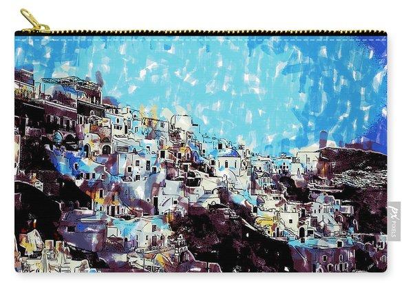 Santorini Island Carry-all Pouch