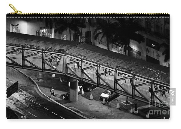 Sao Paulo - Metallic Footbridge At Night Carry-all Pouch
