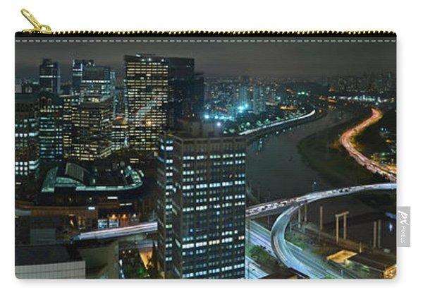 Sao Paulo Skyline Modern Corporate Districts Brooklin Morumbi Chacara Santo Antonio Carry-all Pouch