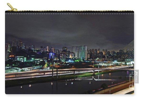 Sao Paulo Skyline - Ponte Estaiada Octavio Frias De Oliveira Wit Carry-all Pouch