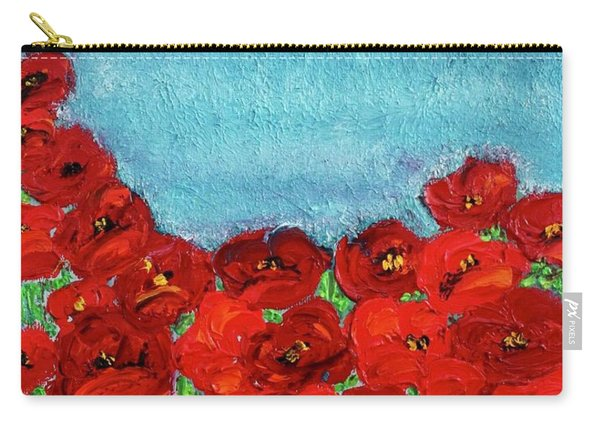 Sarah's Poppies Carry-all Pouch