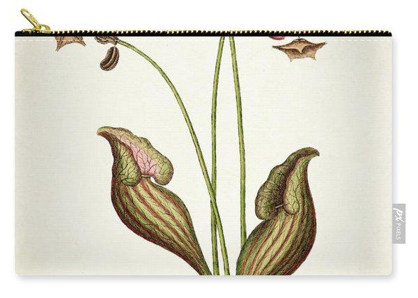 Sarracena Canadensis Botanical Print Carry-all Pouch