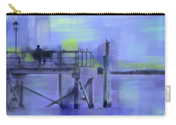 Carry-all Pouch featuring the digital art Saturday Idyll by Gina Harrison