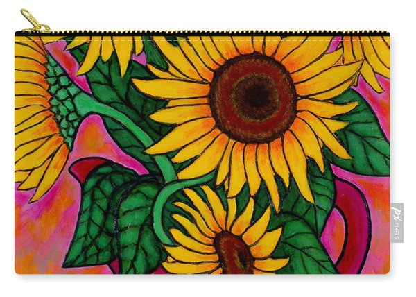 Saturday Morning Sunflowers Carry-all Pouch